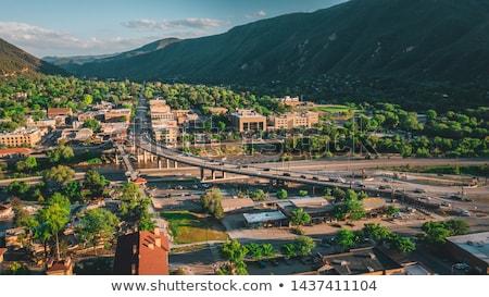 Line przydrożny Colorado góry górskich pomarańczowy Zdjęcia stock © emattil