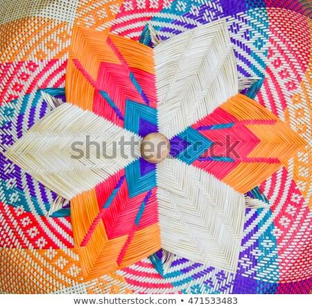 hand made wicker basket Stock photo © caimacanul