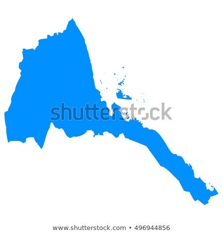 карта Эритрея различный белый город Сток-фото © mayboro1964