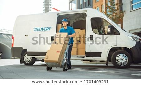 trucks & shops Stock photo © padrinan