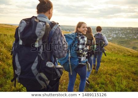 Nő kirándulás természet fiatal fitt kalandsport Stock fotó © kasto