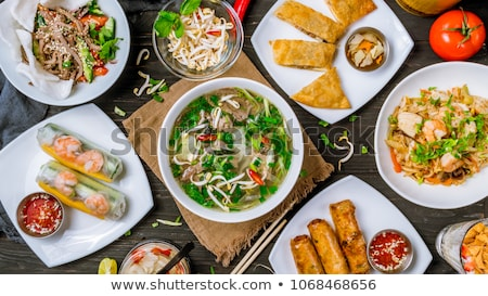 Vietnamese food, vegetable soup Stock photo © xuanhuongho