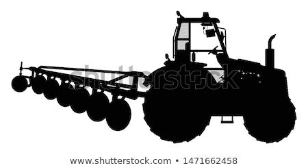 фермы оборудование силуэта иллюстрация трава Сток-фото © silverrose1