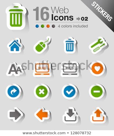 delete sticker icon Stock photo © nickylarson974