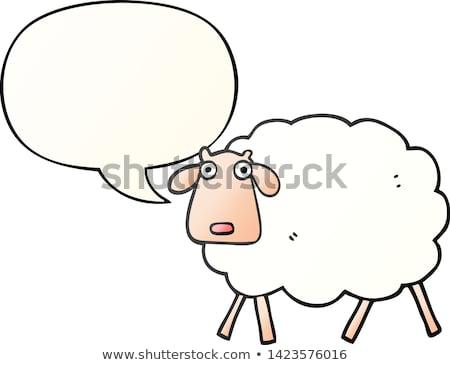 Owiec gryzmolić stylu wektora cartoon Zdjęcia stock © vectorikart