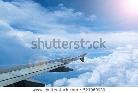 Airplane Wing Seen Through Porthole Window Stock photo © stevanovicigor