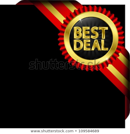 Best Deal golden Vector Icon Design Stock photo © rizwanali3d