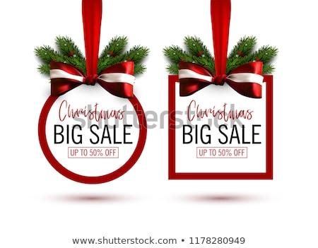 christmas discount red vector icon design stock photo © rizwanali3d
