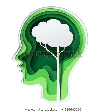 Stock photo: shaped head of world