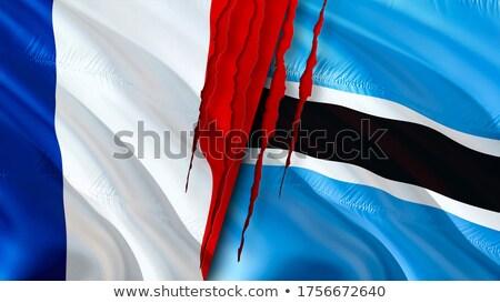 France and Botswana Flags  Stock photo © Istanbul2009