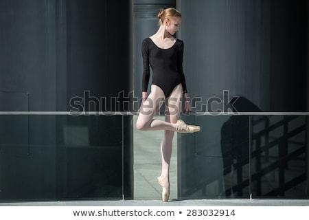 jonge · bevallig · ballerina · zwarte · badpak · stedelijke - stockfoto © bezikus