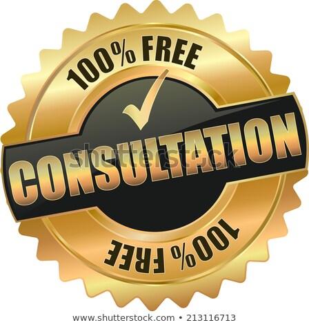 free services golden vector icon button stock photo © rizwanali3d