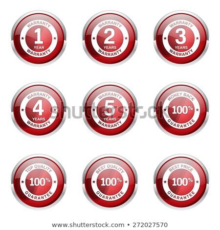 4 Years Warranty Red Vector Icon Button Stock photo © rizwanali3d