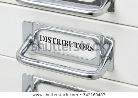 A drawer cabinet with the label Distributors Stock photo © Zerbor
