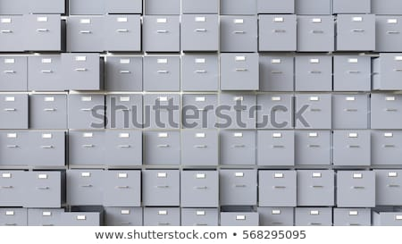 a drawer cabinet with the label data security stock photo © zerbor