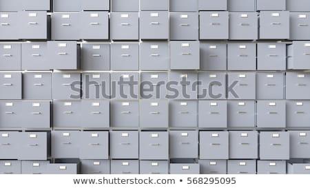 Gaveta etiqueta segurança de dados metal assinar Foto stock © Zerbor
