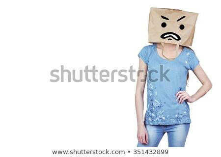 öfkeli · kadın · kafa - stok fotoğraf © wavebreak_media