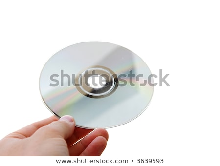 Man hand compact disc geïsoleerd witte muziek Stockfoto © michaklootwijk