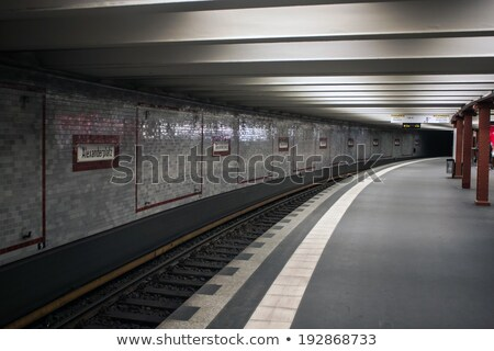 people travel at Alexanderplatz subway station in Berlin Stock photo © meinzahn