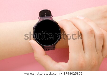 Smartwatch in perspective with black screen Stock photo © cherezoff