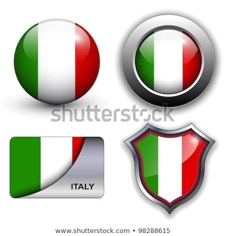 Italia bandera brillante vector arte Foto stock © vector1st