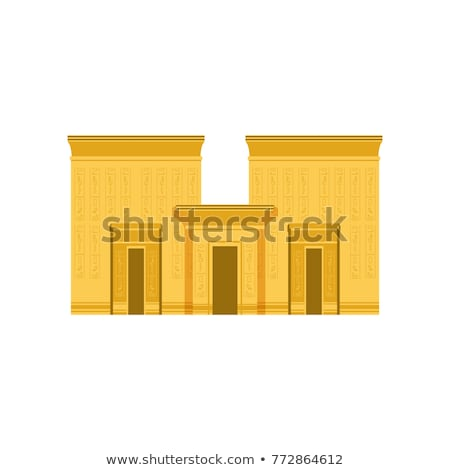 Illustrated walls of Egyptian temple Karnak in Luxor Stock photo © simply