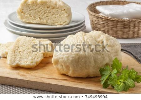 白パン · スライス · プレート · 食品 · 不健康な食事 · 表 - ストックフォト © digifoodstock