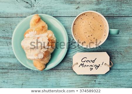 утра кофе Vintage растворимый кофе солнце Лучи Сток-фото © pavlovski