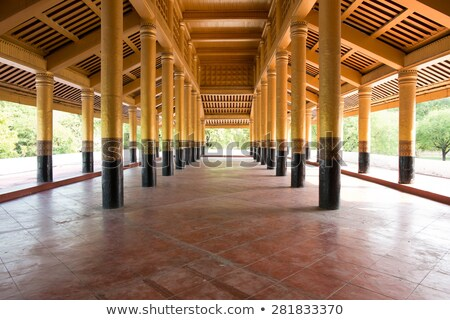 Corridor in Mandalay Palace  Stock photo © cozyta