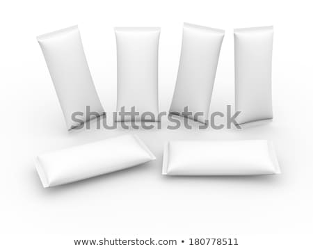 White pack of milk and cookies Stock photo © deandrobot