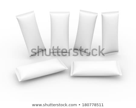 blanche · alimentaire · emballage · isolé · papier · sac - photo stock © deandrobot