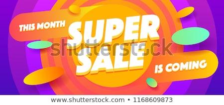 Super Sale Poster Stock photo © adamson