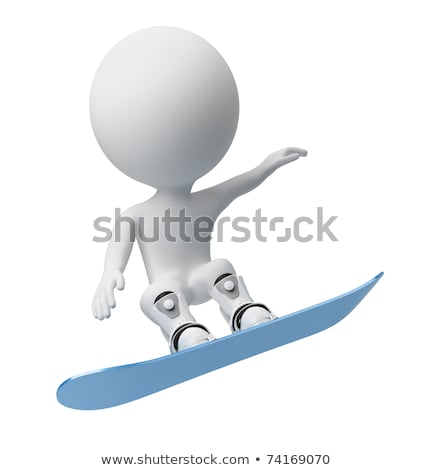 3d small people - skis Stock photo © AnatolyM