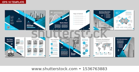Foto stock: Plans Concept Folders In Catalog