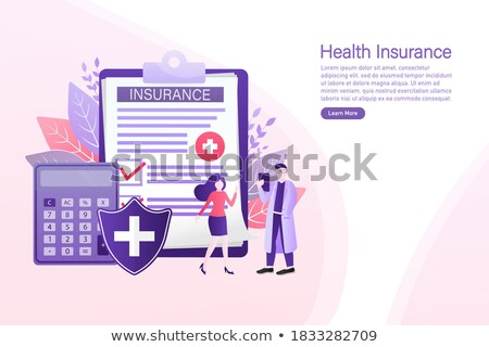Assurance plans presse-papiers 3d illustration autour Photo stock © tashatuvango