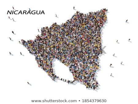 Nicarágua globo vermelho oceano ilustração 3d Foto stock © Harlekino