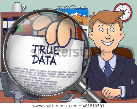 True Data through Lens. Doodle Concept. Stock photo © tashatuvango
