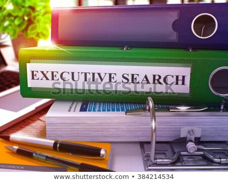 ストックフォト: 執行 · 検索 · 緑 · オフィス · フォルダ · 画像
