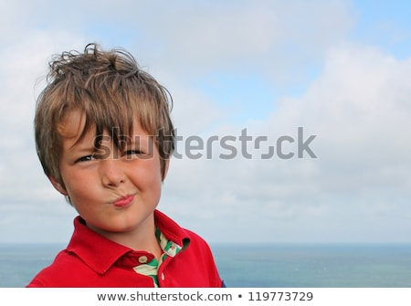 Menino bobo cara diversão retrato Foto stock © IS2