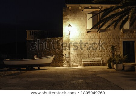 Old stone street in town of Vis Stock photo © xbrchx