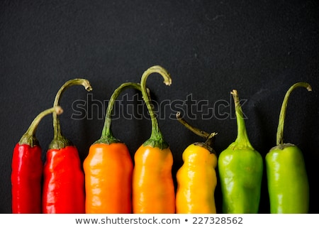 Red, black and white peppers stock photo © Lana_M