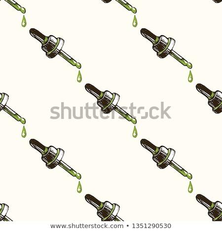 Objętych bezszwowy zielone tekstury konopie indyjskie spadek Zdjęcia stock © romvo