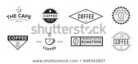 kávé · logo · szimbólum · italok · házak · ital - stock fotó © meisuseno
