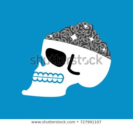 Etherium is treasure. Skull and Cryptocurrency. Vector illustrat Stock photo © popaukropa