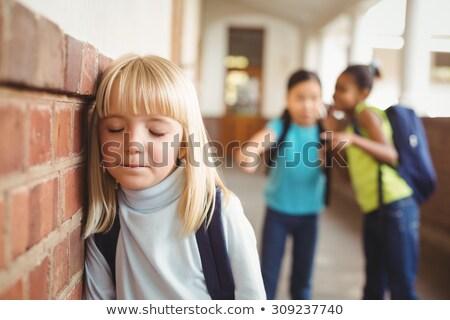 Smutne korytarz dziewczyna dziecko edukacji Zdjęcia stock © wavebreak_media