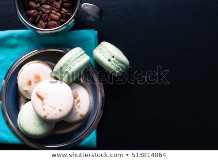 французский кофе macarons заполнение ложку кофе Сток-фото © Melnyk