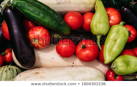 Fresh picked red, yellow and green bell pepper Stock photo © Melnyk