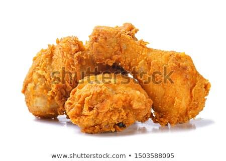 blanco · comer · almuerzo · rápido · pierna - foto stock © ungpaoman