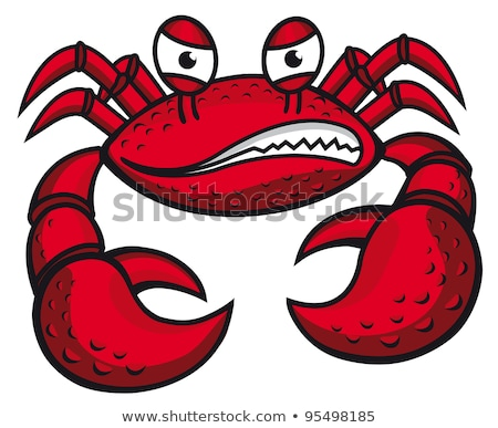 Angry Crab Cartoon Mascot Character Stock photo © hittoon