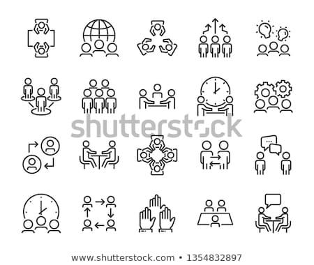Vector business icons set. HR icon set Stock photo © MarySan